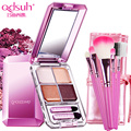 QUTY Crystal 3D Four-color Eye Shadow Soft Brush Makeup Face Naked Palette pallete Highlighter