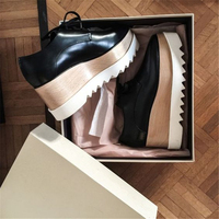 Fashion Platform Wedges Oxford Women Casual Shoes Sexy Super Star Square Toe Lace Up Pumps Gladiator Outfit Shoes Tenis Feminino