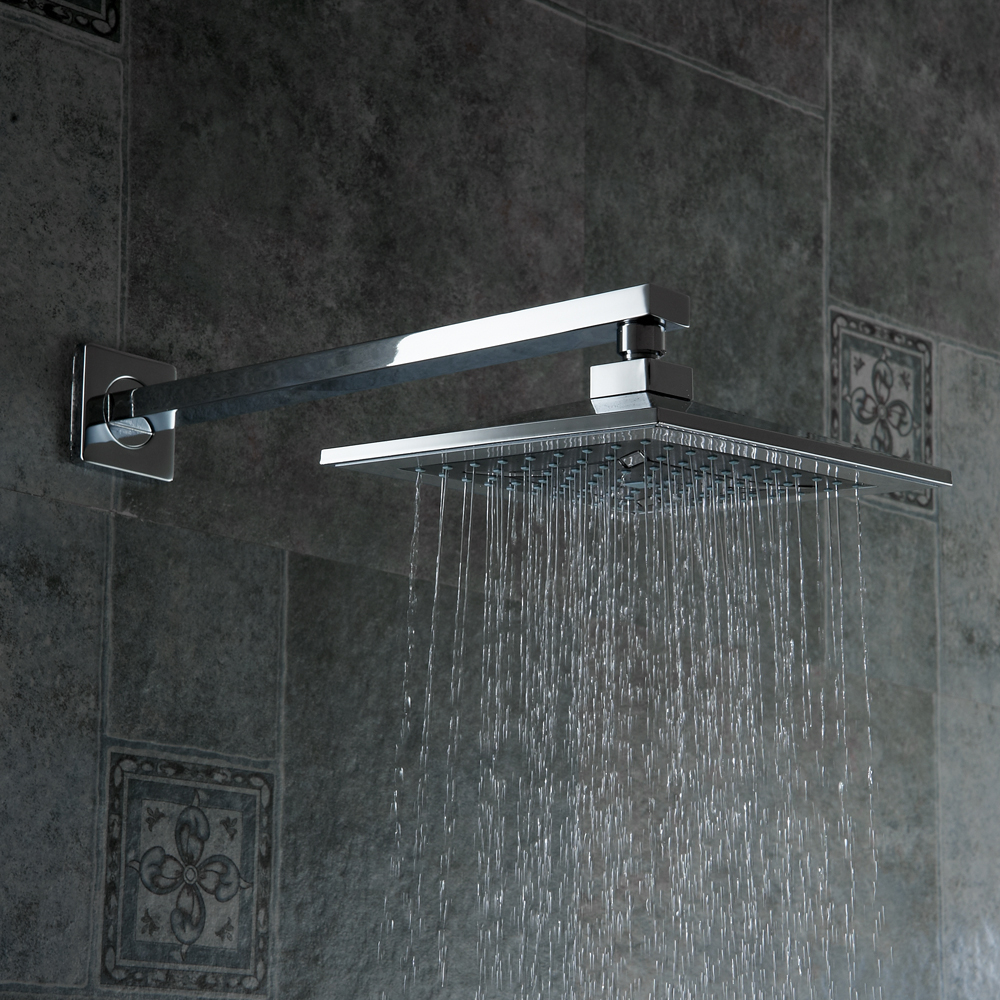 BAKALA 8 inch Bathroom rain shower faucets Diamond Designs ABS head ...