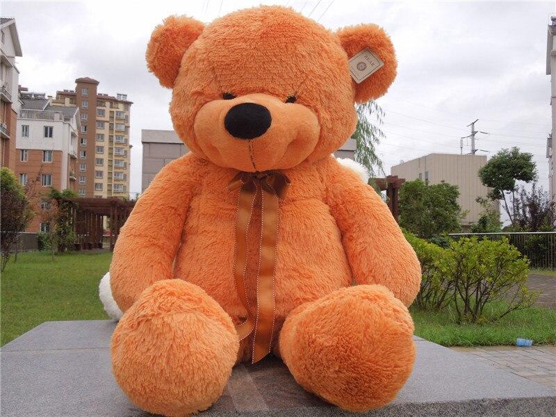 Livraison gratuite 1 m ours en peluche jouet sourire style ours en peluche nouveau style cadeau de noël 4 couleurs au choix