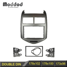 Double Din Fascia for 2011 CHEVROLET AVEO Radio DVD Stereo Panel Dash Mount Install Trim Kit Frame