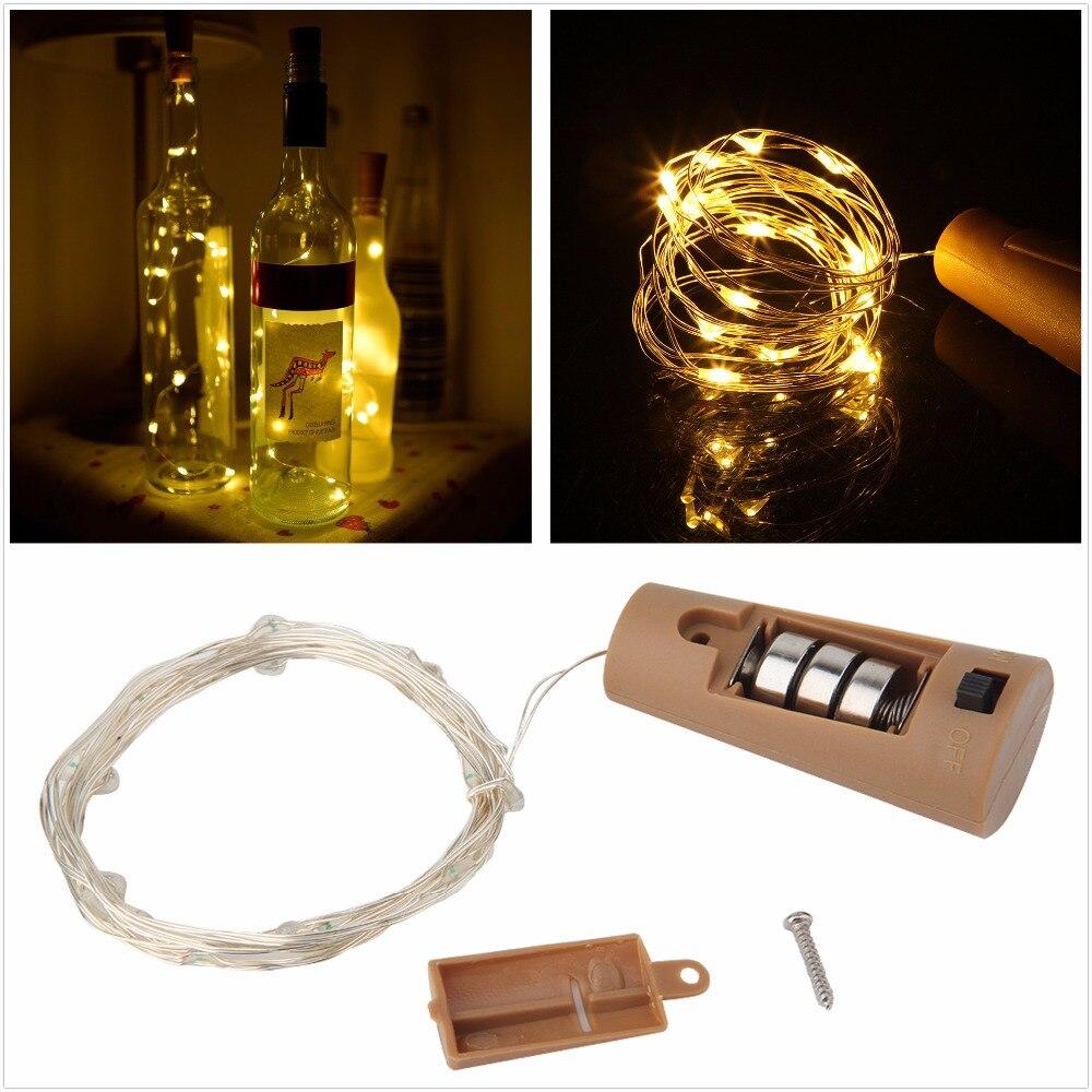 Kupfer Lichterkette mit Flaschenverschluss 1m / 2m Korkenförmige - Feiertags-Beleuchtung
