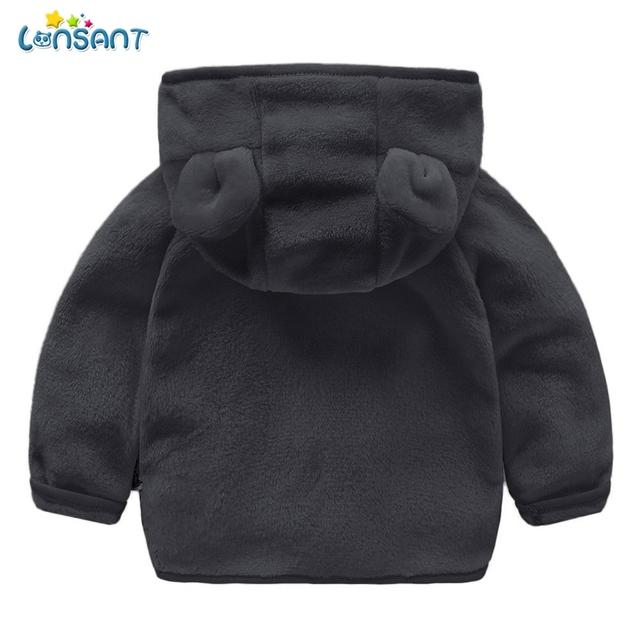 LONSANT Faux Fur Coat Zipper Hooded Warm Abrigos De Pelo Baby Outerwear Veste Fourrure Baby-Clothing Winter Jackets Boys N30