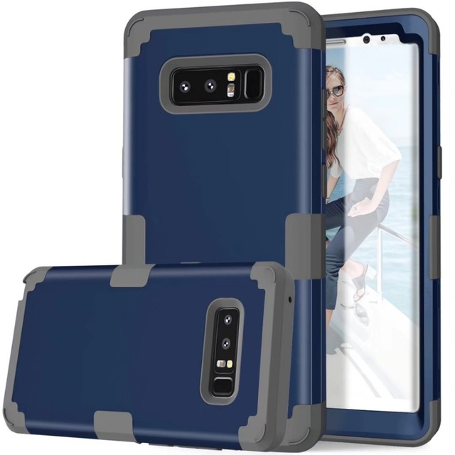 US $4 49 10% OFF|For Samsung Note 8 Case Cover 3 in 1 Hybird Full Body  Heavy Duty Protective Shockproof Cases for Samsung Galaxy Note 9 Note 8  S9-in