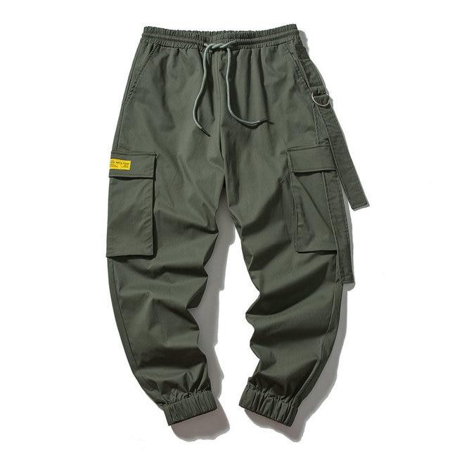 2019 New Men Cargo Pants Mens Casual Joggers Baggy RIbbon Tactical Trousers Harajuku Streetwear Hip Hop Pants ABZ324