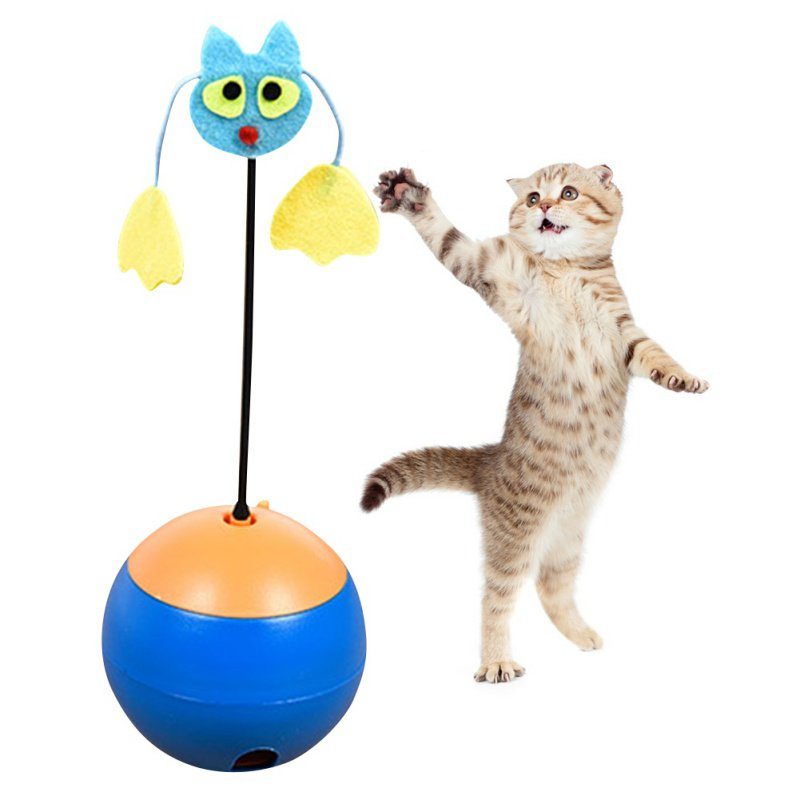 Lovely Funny Cat Toys Tumbler Laser Electric Multi Functional Interactive Cat Dog Toys Balls Leakage Food Toys High Quality