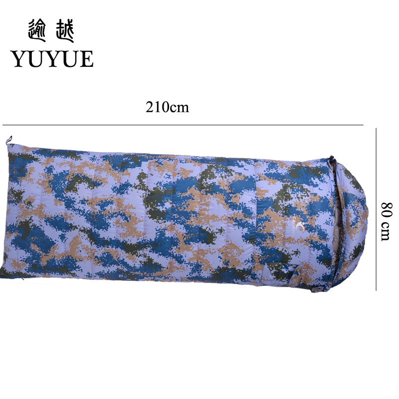 2018 Thickened Outdoor Military Sleeping Bag Down For Outdoor Camping Tent Camouflage Sleeping Bag Envelope Sleeping Bags 1