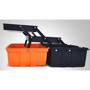 Image 4 - Caixa de plástico de ferramentas multi camada, 17 polegadas, 19 polegadas, caixa de ferramentas, ferragem, caixa de reparo multifuncional casa, carro caso do recipiente da ferramenta
