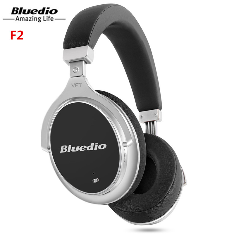 Bluedio F2 Wireless Headset With ANC Bluetooth Headphones With Microphone Support Music Noise Cancelling