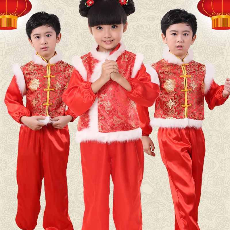 new year children chinese folk dance costumes yangko dancing girls dance yangge clothes kids opener phoenix peony embroidery in chinese folk dance from - Chinese New Year For Kids
