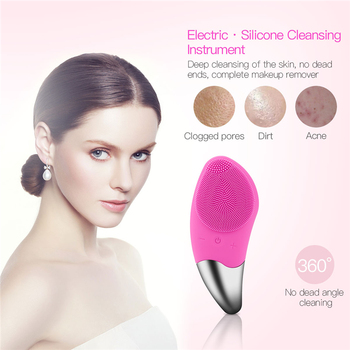 Electric Facial Cleansing Brush Sonic Vibration Deep Cleaning Face Massage Brush Remove Dirt Makeup Blackhead Pore Cleaner 35 2