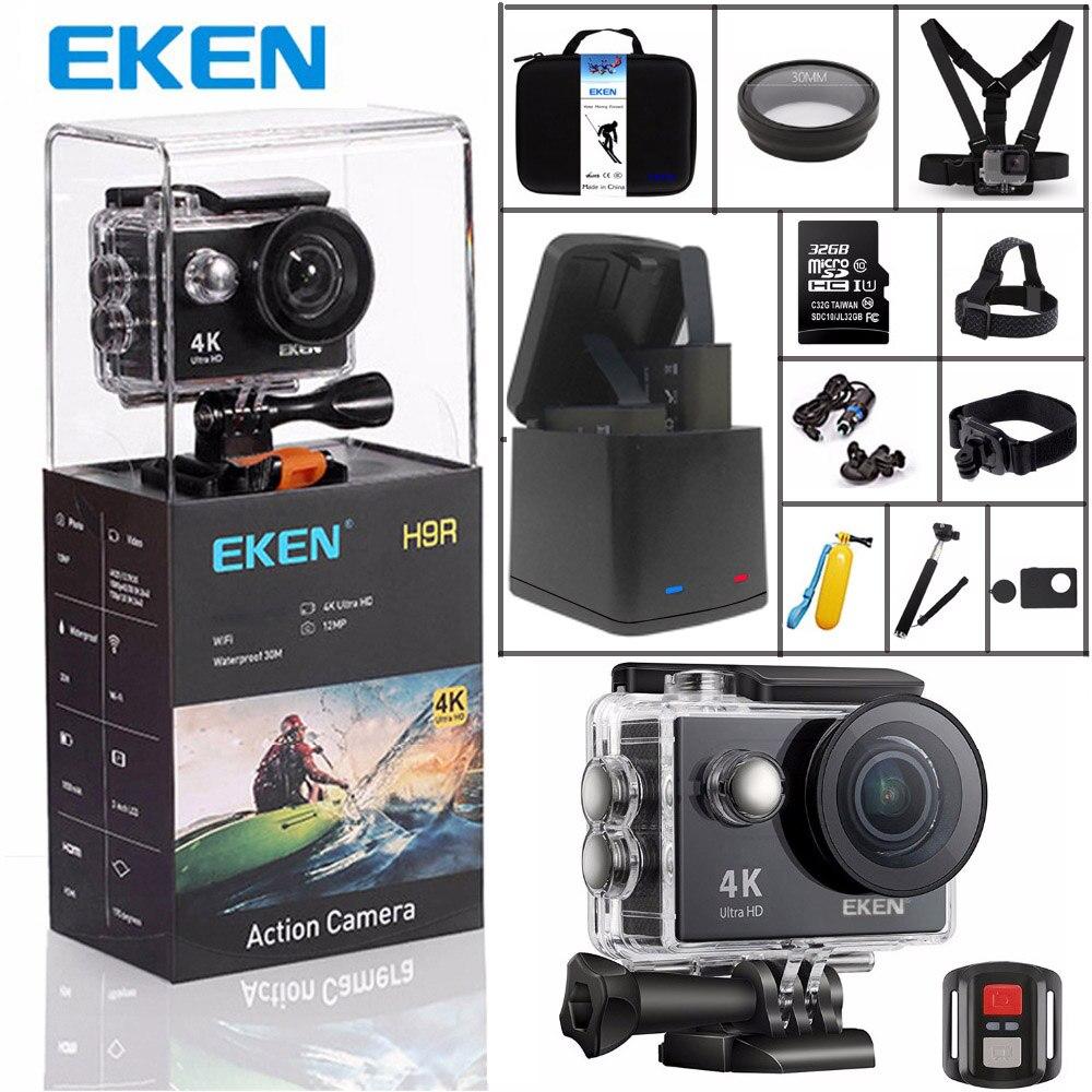 Оригинальный eken H9 спортивные Камера H9R Ultra HD 4K @ 25fps 170 градусов Wi-Fi 2,0 Подводная Водонепроницаемая видеокамера-шлем экшен-камера
