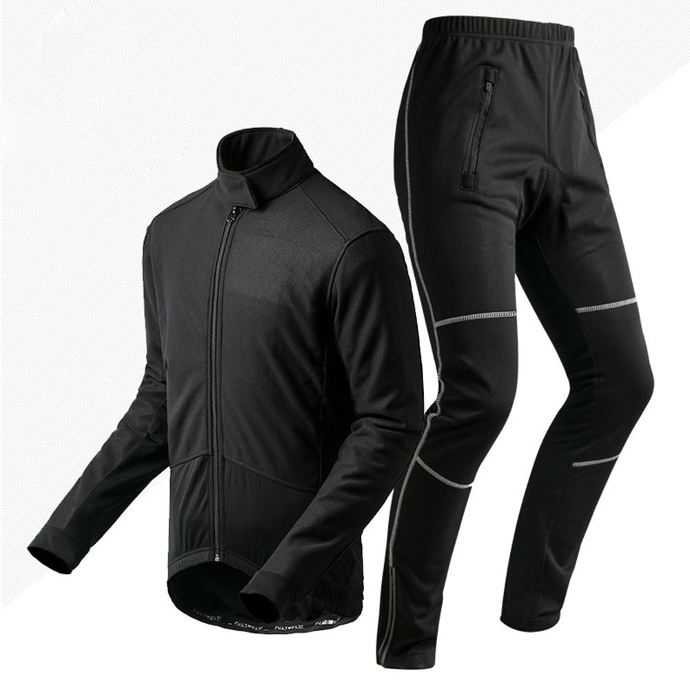 LumiParty Outdoor Cycling Equipment Cycling Jerseys Long Sleeve Suit Cycling Wear Thermal Bike Jersey and Pants Set live team cycling jerseys suit a001