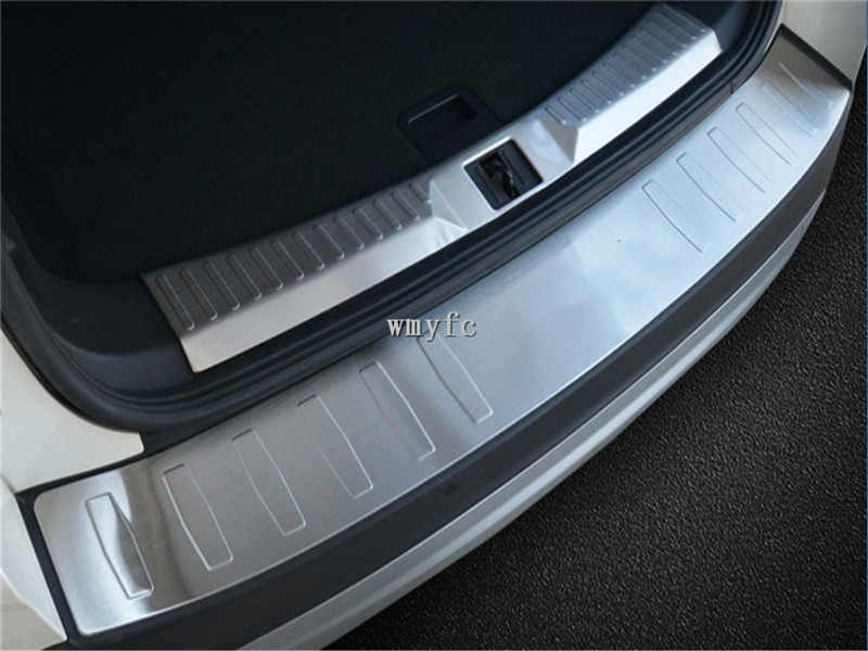 For Ford Escape Kuga 2013 2018 Rear Bumper Protector Deck Step Panel Trim Cover Trunk Boot Sill Plate Garnish