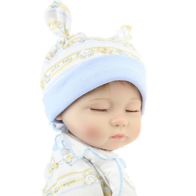 18 Silicone Newborn Bebe Reborn Baby Dolls Soft Sleeping Girl Doll Handmade Lifelike Fashionable Baby Gift Munecas Juguetes