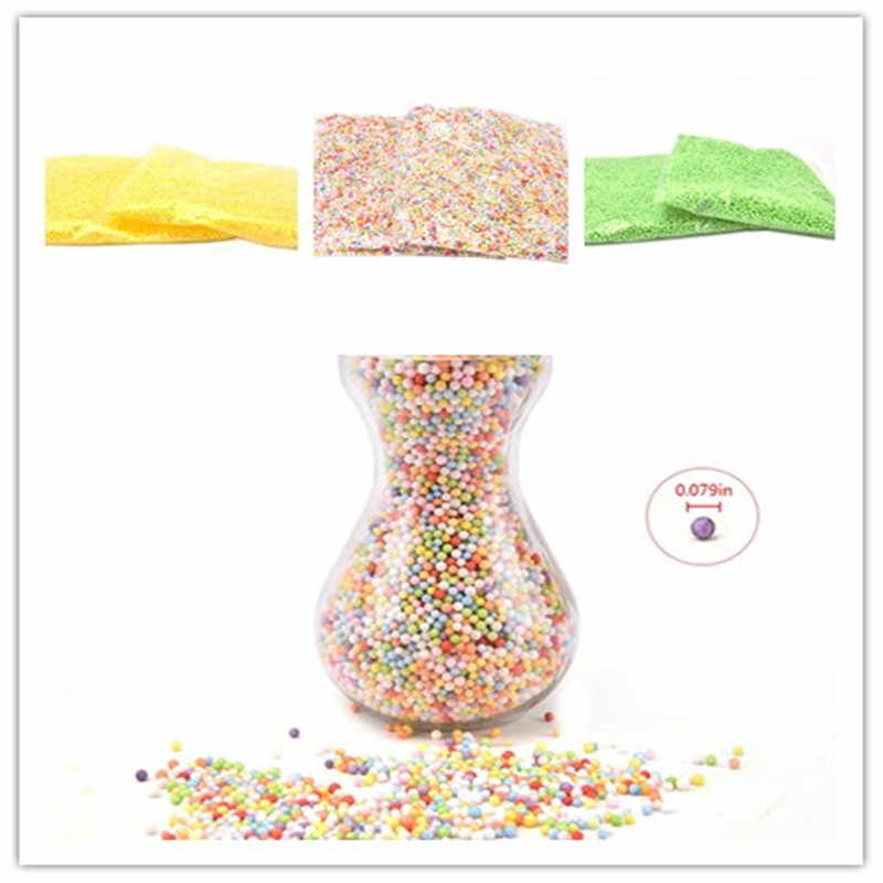 DIY Supplies DIY Snow Mud Particles Accessories 0.079 In Slime Balls Small Tiny Foam Beads For Floam Filler 1 Pack