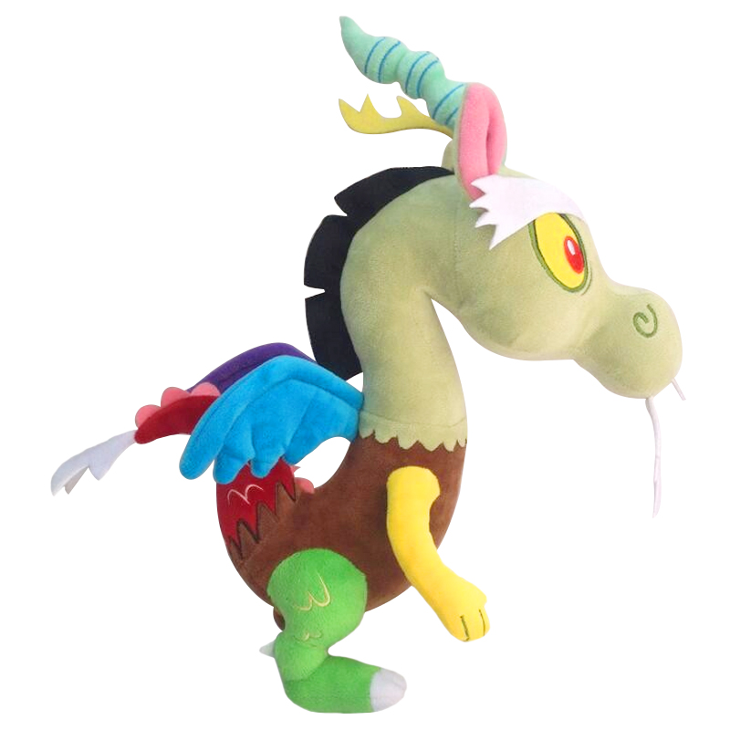 1pcs 30cm Hot sale lovely rainbow horse Discord plush toy stuffed doll for birthday gift or collection stuffed animal 44 cm plush standing cow toy simulation dairy cattle doll great gift w501