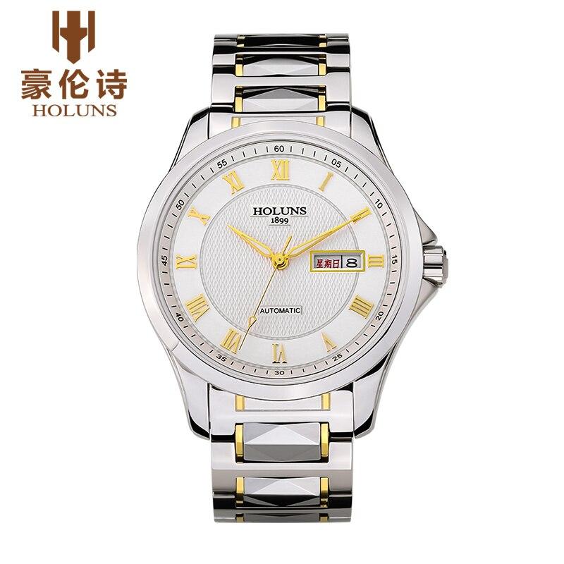 HOLUNS SP002 Watch Geneva Brand high-end quality automatic self-wind mechanical wrist watch men's relogio masculino ароматизатор aroma wind 002 a