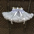 New fashion girls tutu skirts baby ballerina skirt childrens chiffon fluffy pettiskirts kids Hallowmas casual candy color skirt