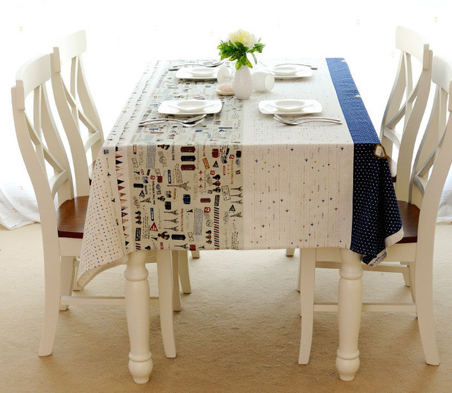 Europe Style Cotton Linen Tablecloth Eiffel Tower Table Cloth High Quality  Tablecloth Toalha De Mesa