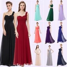 Vestidos de Noche siempre bonito EP09768 flores largo azul acolchado tamaño grande mujeres flor negro gasa 2019 vestido Formal para boda