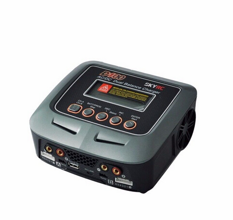 Skyrc D100 Charger Twin-Channel AC/DC LiPo 1-6s 2x100W Dual Balance Charger Discharger Lipo LiFe Li-ion NiMh PB Battery RC parts