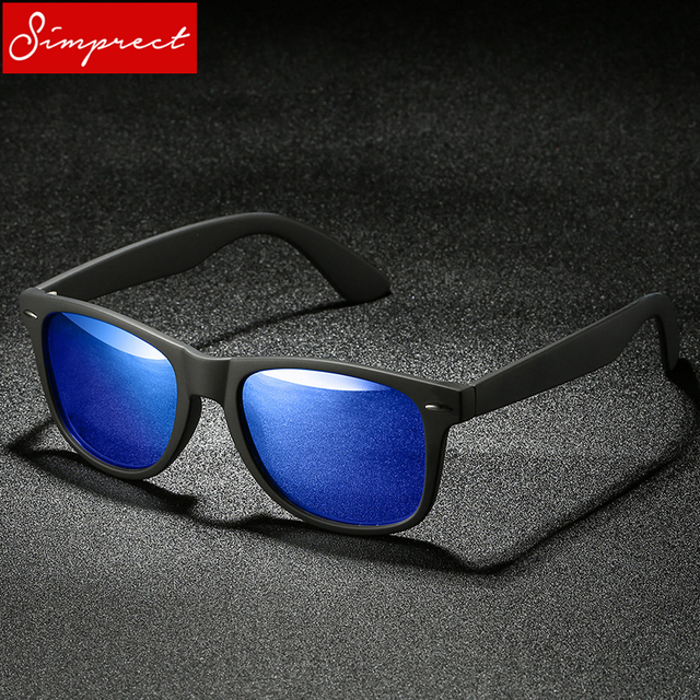 SIMPRECT Polarized Sunglasses Men Driver Mirror Classic Square Sun Glasses UV400 High Quality Fashion Lunette De Soleil Homme