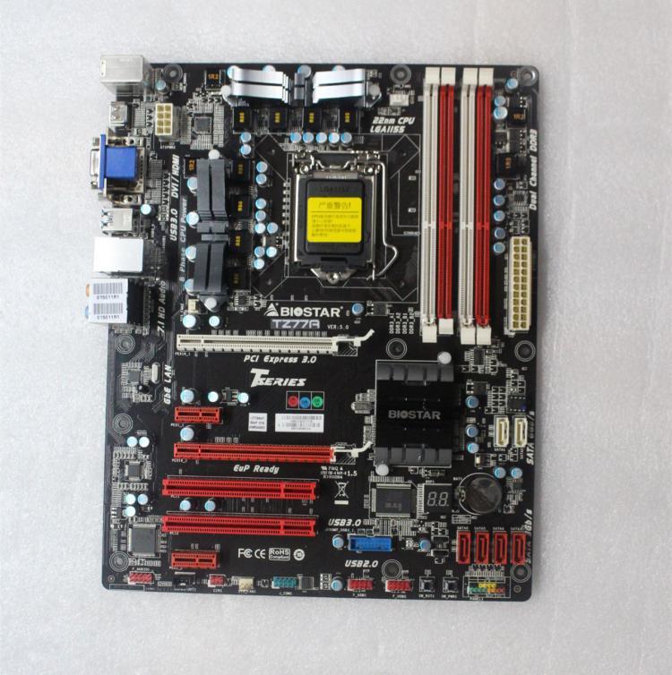 Free Shipping Original Motherboard For Biostar TZ77A LGA 1155 DDR3 USB2.0 USB3.0 HDMI DVI VGA 32GB Z77 Desktop Motherboard