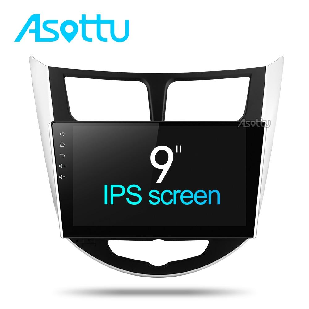 Asottu CRN9060 android Car dvd gps player 8 Octa core for Hyundai Solaris Verna android  car dvd radio gps navigation player