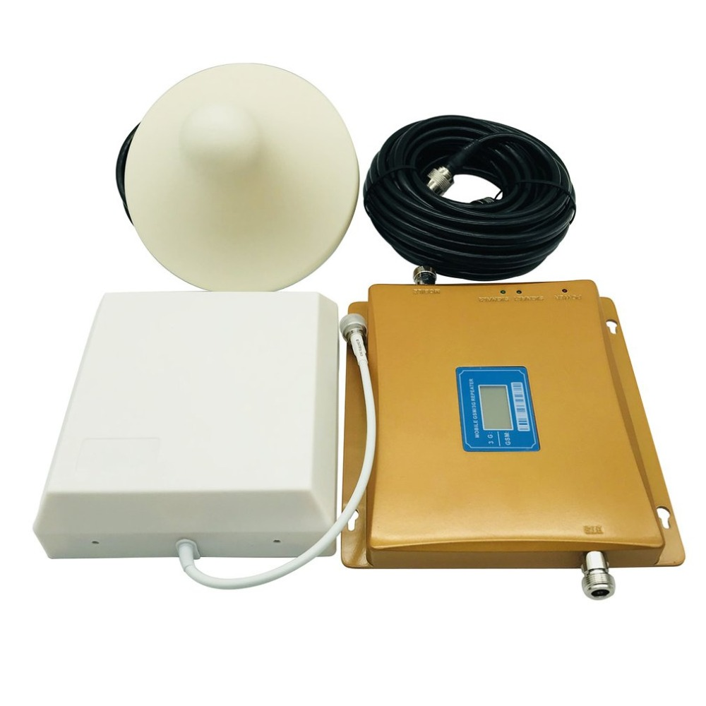 3G Repeater Dual Band 1800 MHz 2100 MHz GSM DCS Booster Extender Aerial Signal Amplifier 3G 4G Cell Phone Booster Sets