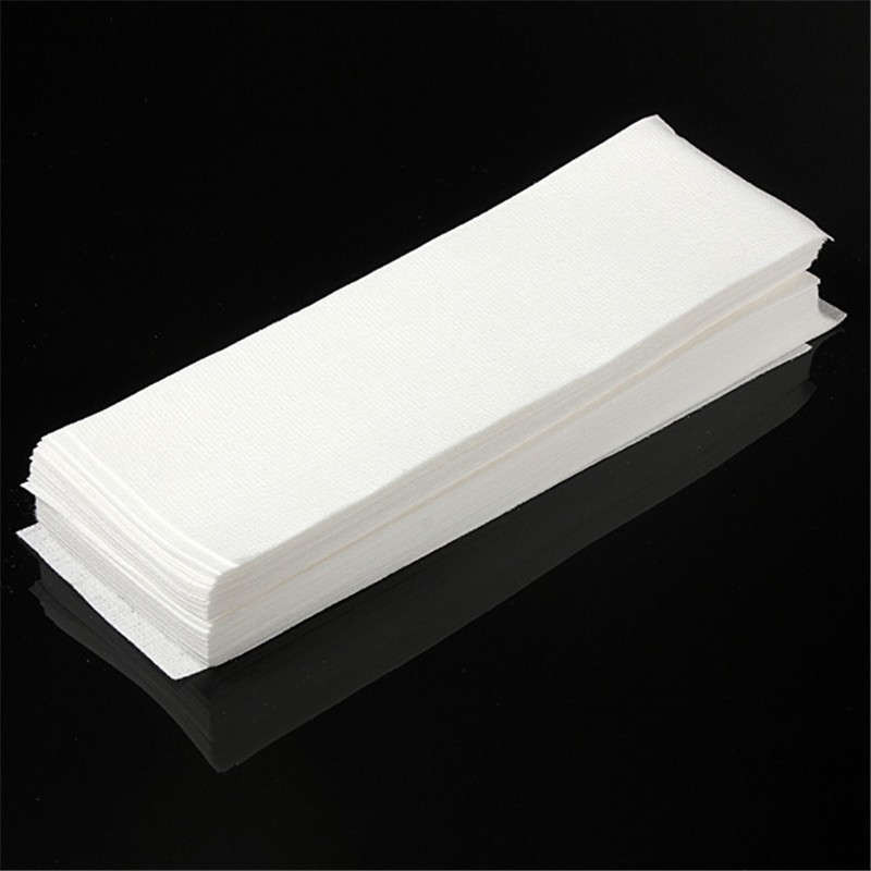 100pcs Hair Removal Depilatory Nonwoven Epilator Wax Strip Paper Roll Waxing Health Beauty Tool Hair Removal Kit
