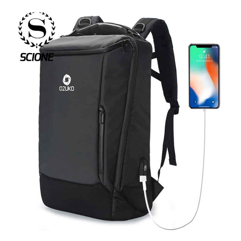 Business USB Charging Backpack for Men Student Boys Backpage Waterproof Anti theft Travel Laptop Bags Mochila