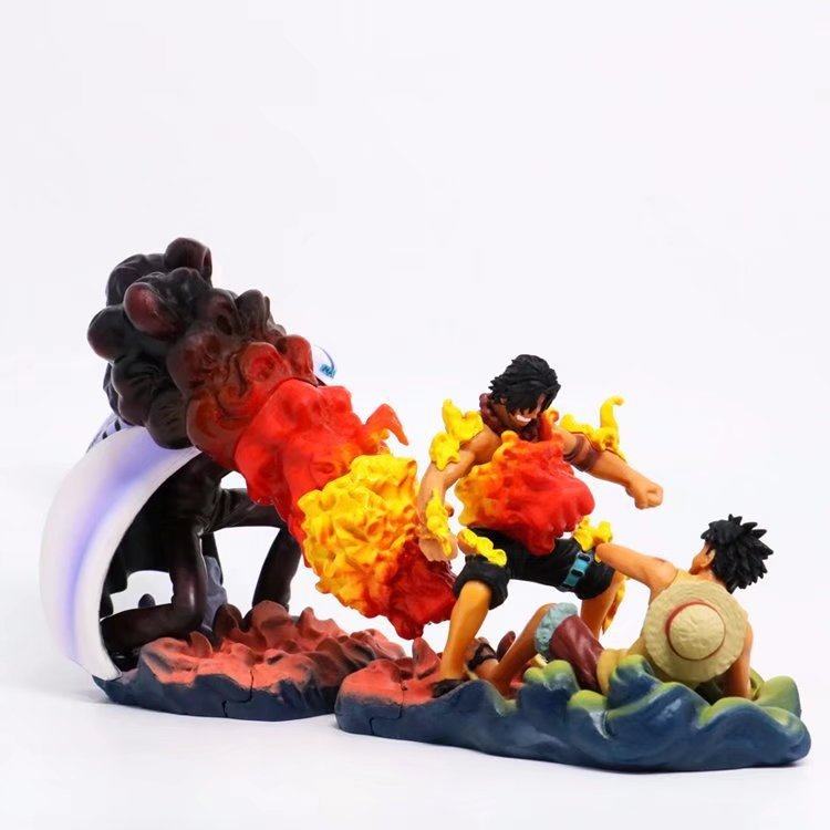 NEW hot 10-13cm One Piece Sakazuki Luffy Portgas D Ace death Action figure toys collection doll Christmas with box