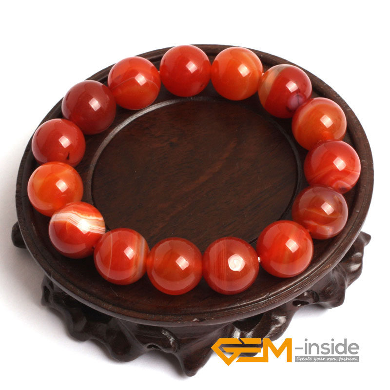 Natural Red Sardonyx Carnelian Bracelet : 4mm To 14mm Natural Stone Bracelet Energy Bracelets For Women For Gift Free Shipping