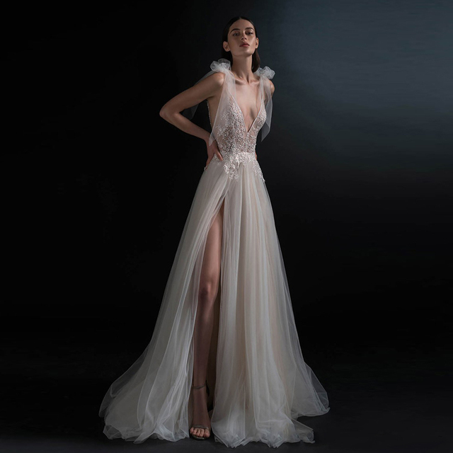 I Do I Do Wedding Gowns: Hot Cheap Vestido De Noiva Fairy A Line Wedding Gowns Sexy
