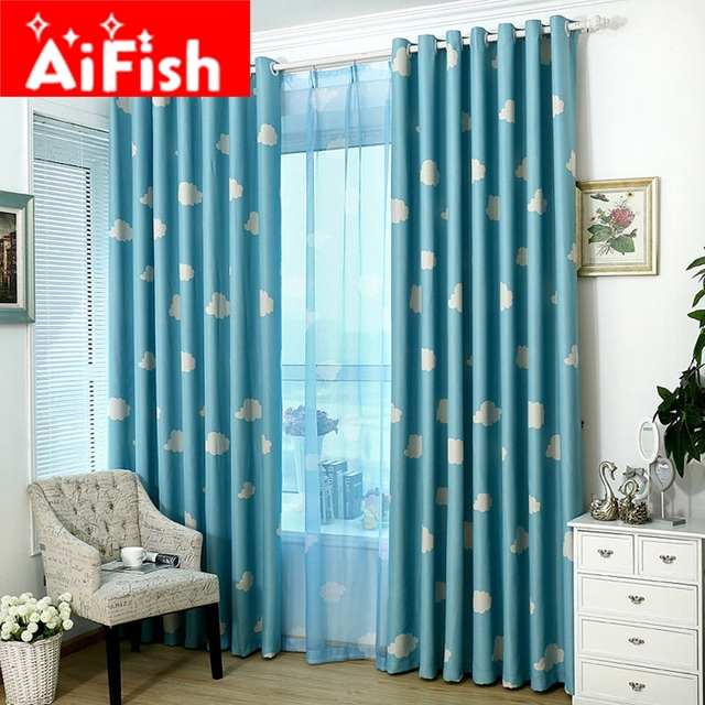 room merge living blue made p or bedroom simple dining light custom curtains sky