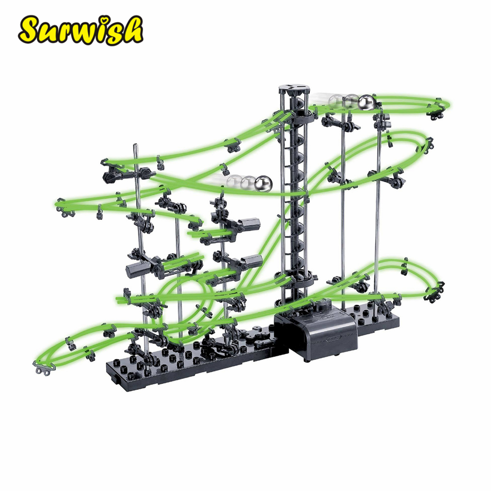 Spacerails Level 5G Dark Glow Roller Coaster Marble Steel Balls Illuminate Gift