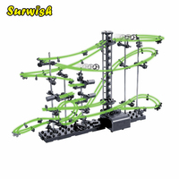 Surwish DIY Educational Toys Spacerail Level 2 Glow In The Dark Marble Roller Coaster with Steel Balls 10000mm 231 2