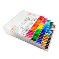 Набор маркеров манга художественные принадлежности маркер Rotuladores Рисунок цвета микрон мелкая надпись ручка Dessin caligraphia Liner Markery