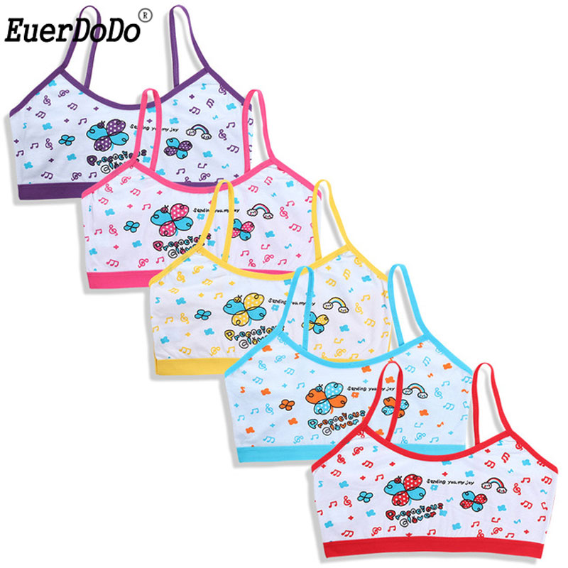 Tank-Top Kids Underwear Camisole Model Baby-Bras Young-Undershirt Teenager Girls Cotton