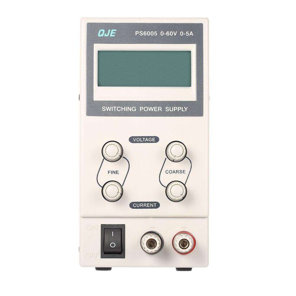 3 chiffres Variable numérique 0-60V 0-5A régulé DC alimentation à découpage tension de sortie réglable courant affichage LCD prise EU \ US
