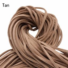 20 yards 2.8x1.5mm Faux Suede Cord String Rope Thread Velvet Leather Cords for Necklace Jewelry(China)