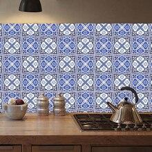20pcs Moroccan Retro Tile Stickers Living Room Kitchen PVC Waterproof Self Adhesive Furniture Wall Bathroom DIY DT033