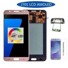 Оригинальный Super Amoled ЖК-дисплей для samsung Galaxy J7 nxt J701F J701M ЖК-дисплей с Сенсорный экран планшета Ассамблеи Бесплатная доставка