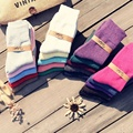 2pcs Women Thicken Thermal Wool Cashmere Casual Warm Socks Winter Short Socks