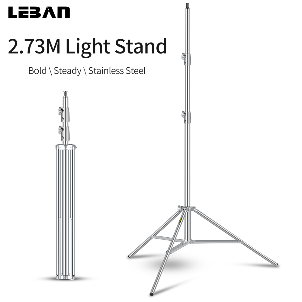 2 73M Heavy Duty Stainless Steel Light Stand for Studio Photo Video Flash Light Softbox Reflector