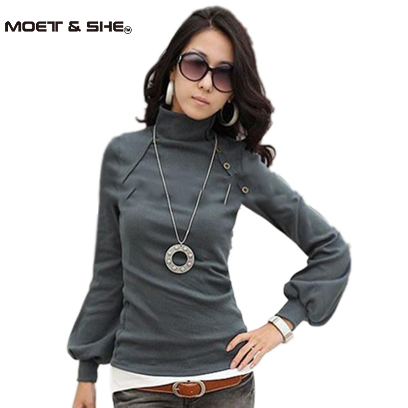 wholesale women new autumn winter lantern sleeve shirt