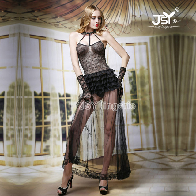 Club Outfit Porn - 6053 Hot Sexy See Through Babydoll Dress Halloween Costume Breathable Night Club  Dress Erotic Lingerie Porn