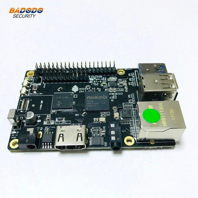 ROCK64 PINE64 HDR אנדרואיד לינוקס מדיה פיתוח לוח Quad Core + 1GB LPDDR3 eMMC שקע + מיקרו SD כרטיס חריץ + Pi 2 אוטובוס + Pi P5 + אוטובוס