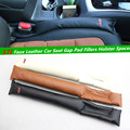 for Subaru STI Faux Leather Car Seat Gap Pad Fillers Holster Spacer Padding Protective Case Slot Plug Stopper Gap Filler sticker